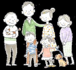 2世帯家族背景ぬき