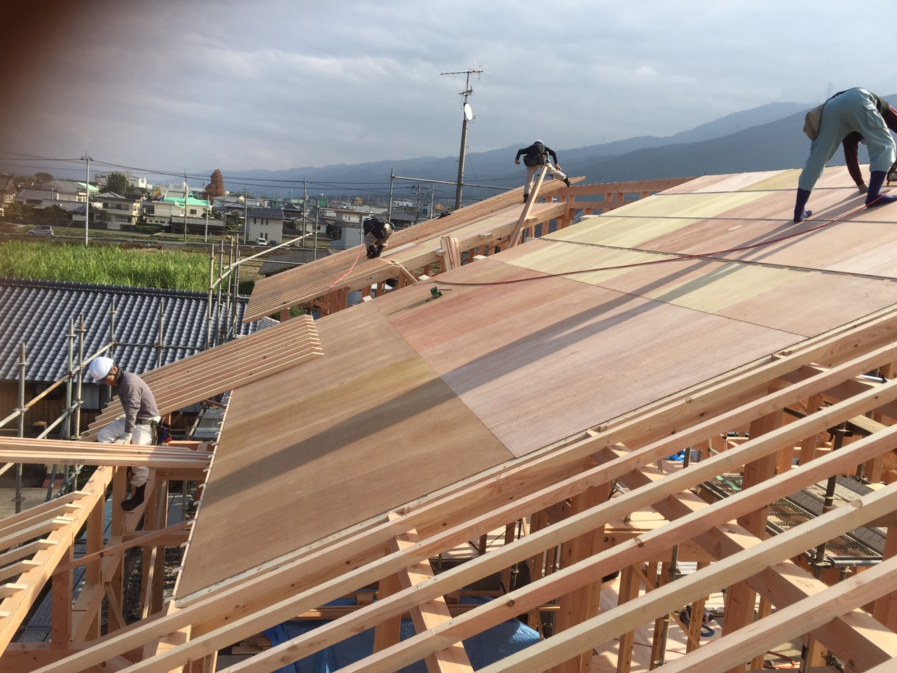四国中央市で注文住宅の現場写真