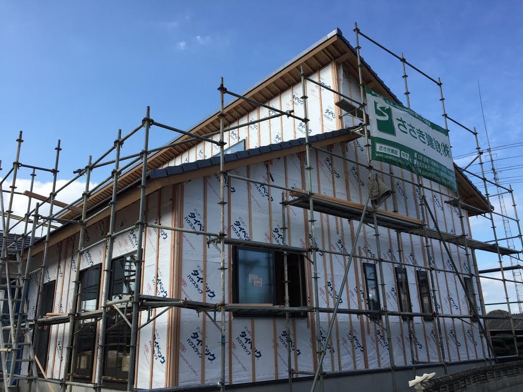 西条市で家を建てている写真