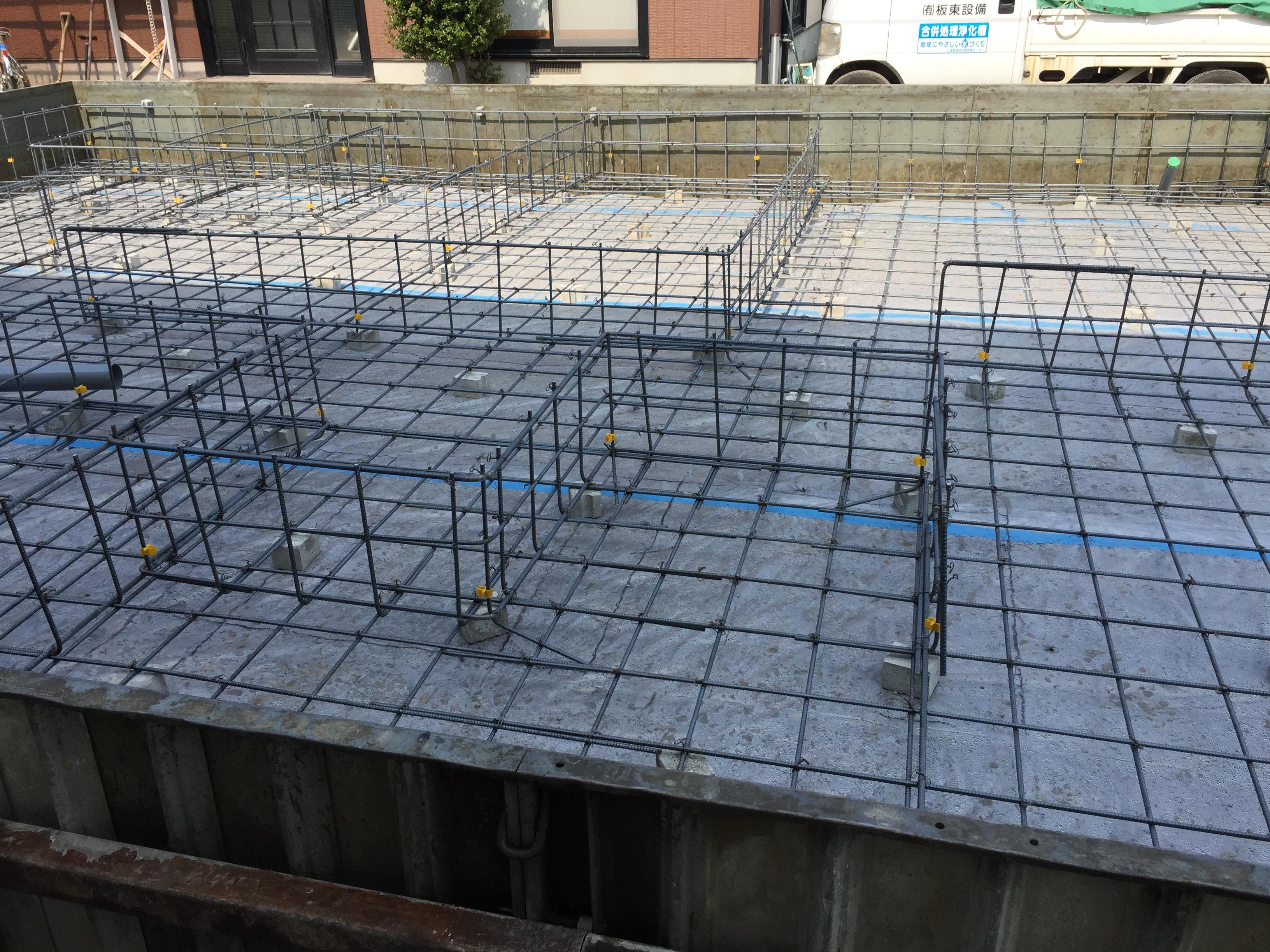 新居浜市で家を建てる基礎の写真