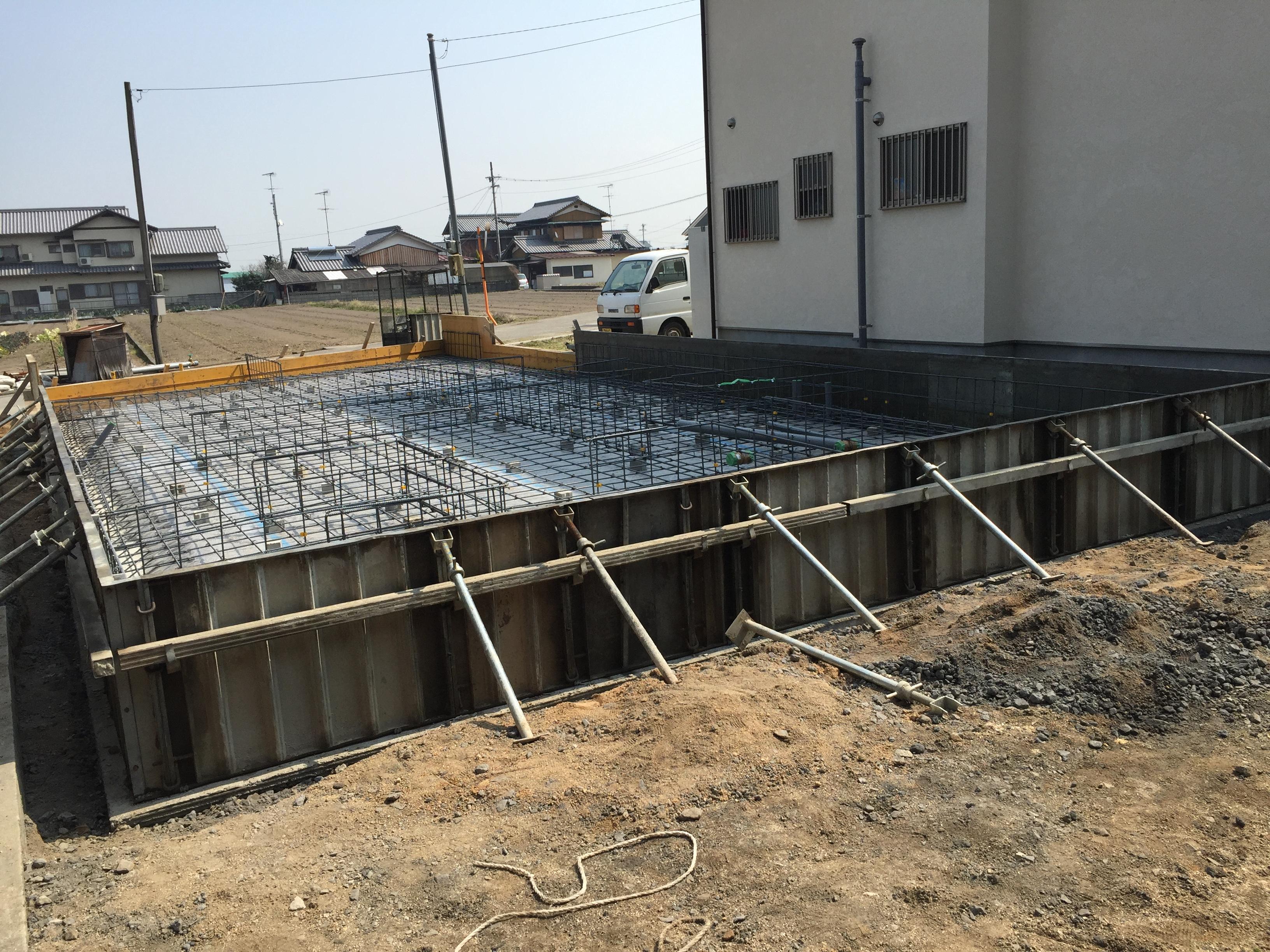 新居浜市で家を建てる現場の写真