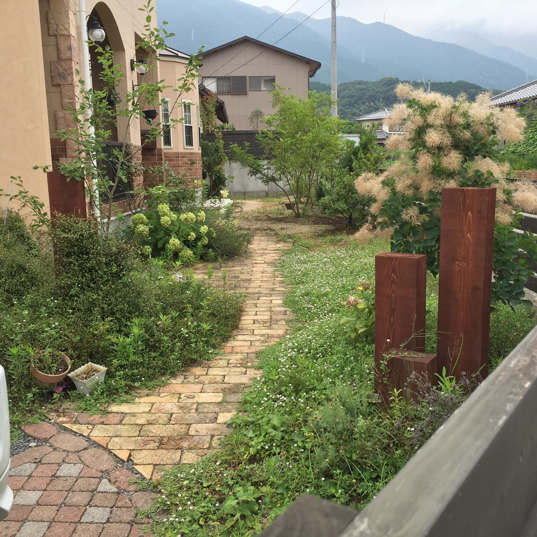 四国中央市でエコハウスの庭写真
