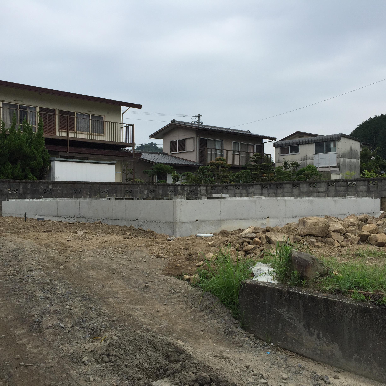 四国中央市でエコ住宅の基礎写真