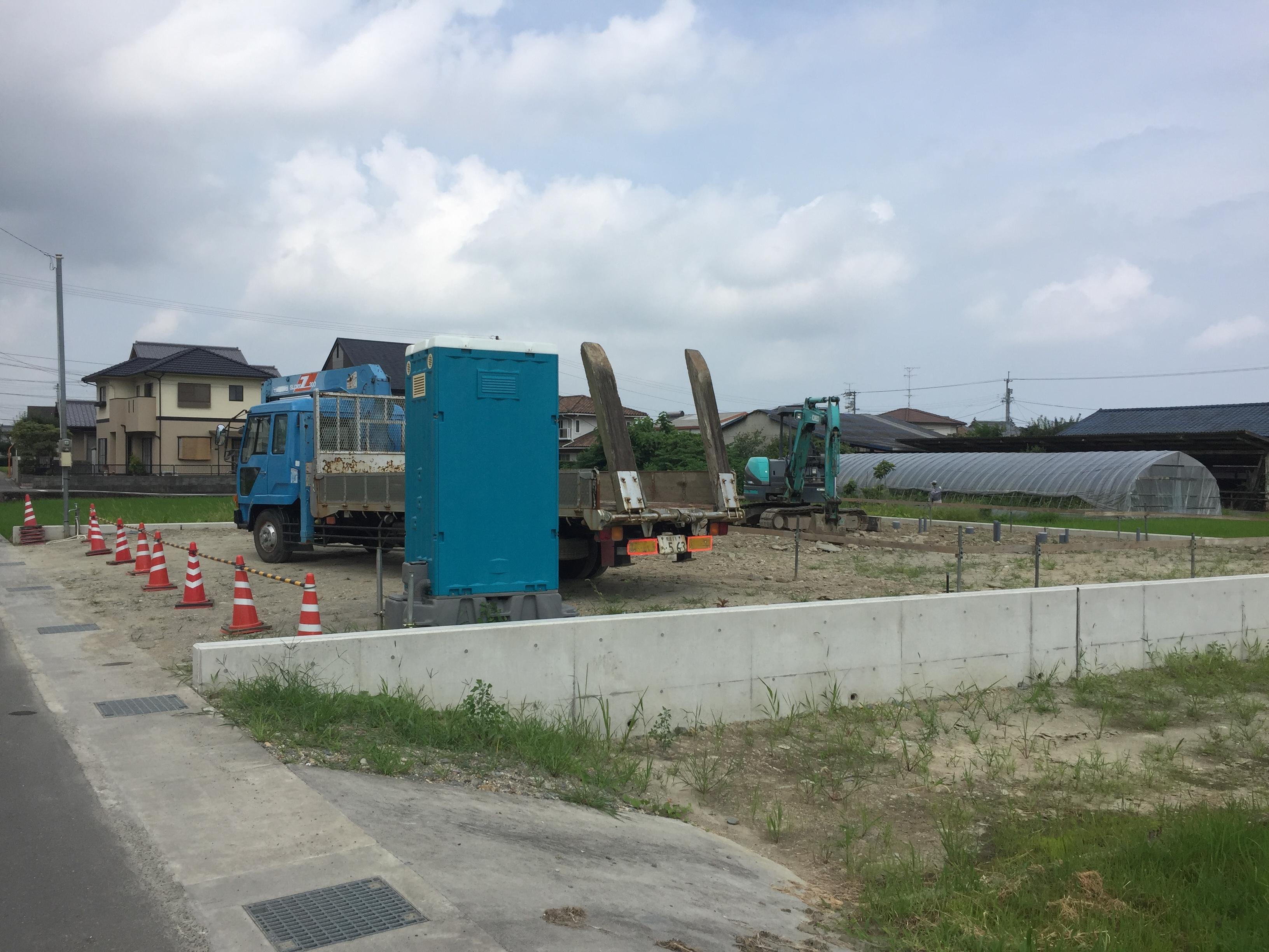 四国中央市で戸建ての現場写真