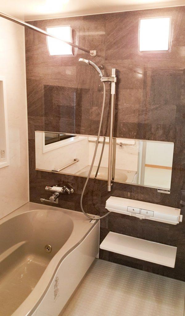 新居浜市で浴室リフォームしたお風呂の写真
