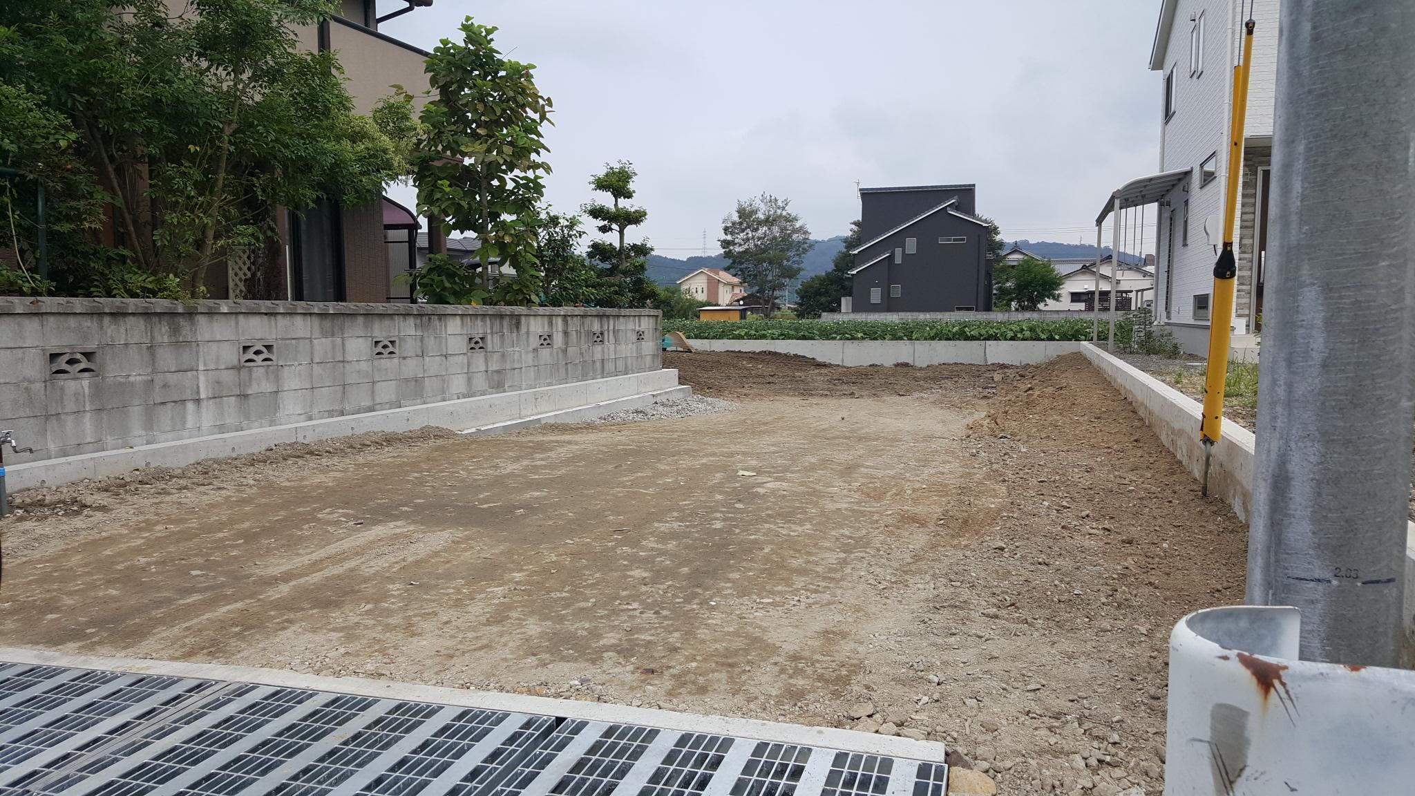 新居浜市で吹き抜けの家を建てる現場写真