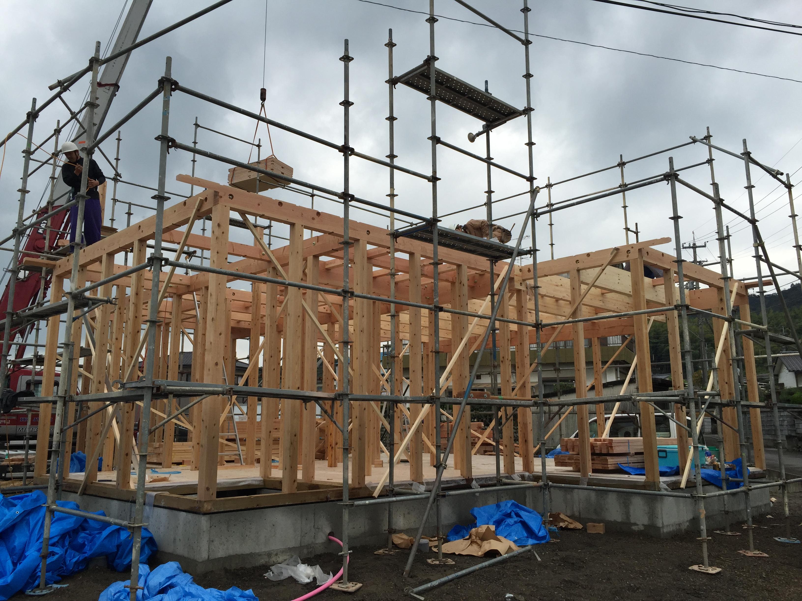 四国中央市で建設会社がしている現場写真