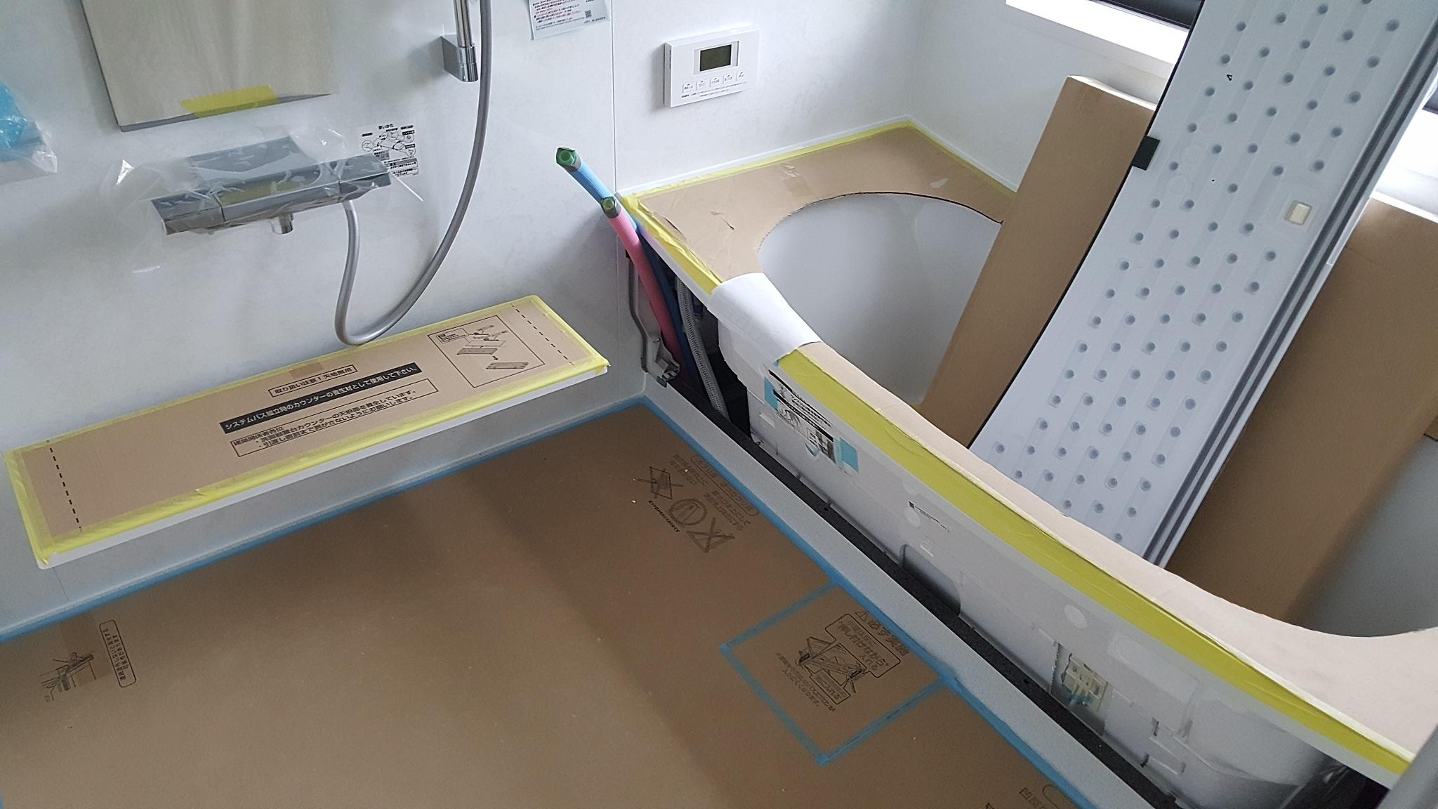 新居浜市でバリアフリー住宅の浴室写真