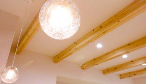 新居浜市でデザイン住宅の照明写真