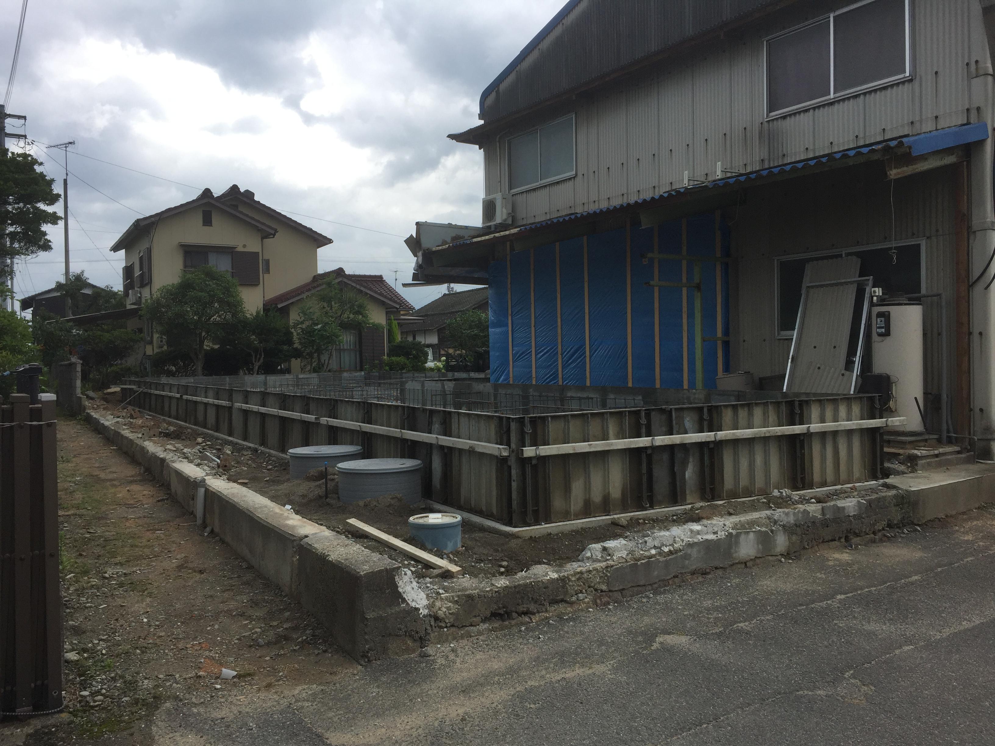 四国中央市で新築の基礎現場写真
