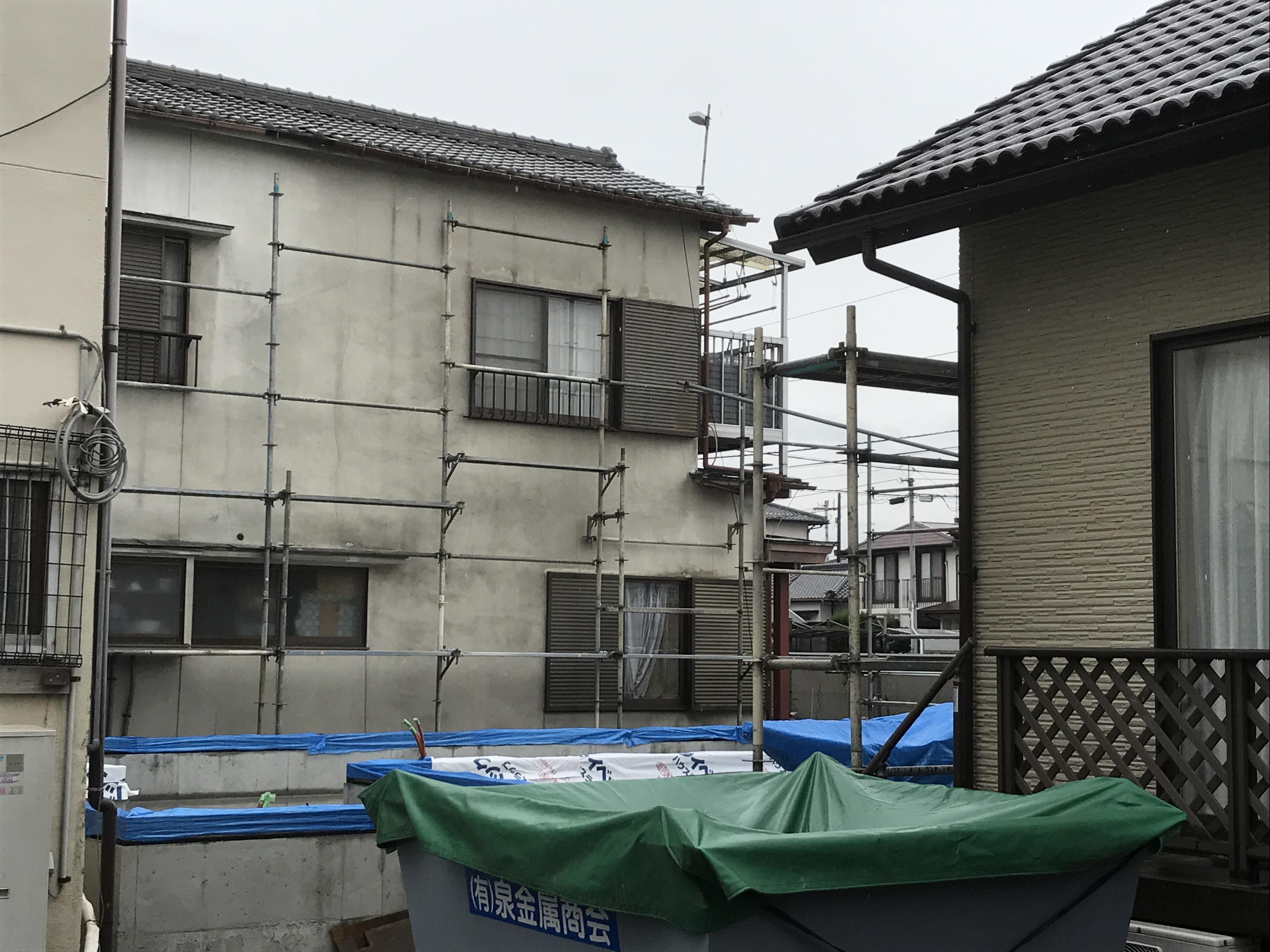 西条市で住宅の現場写真