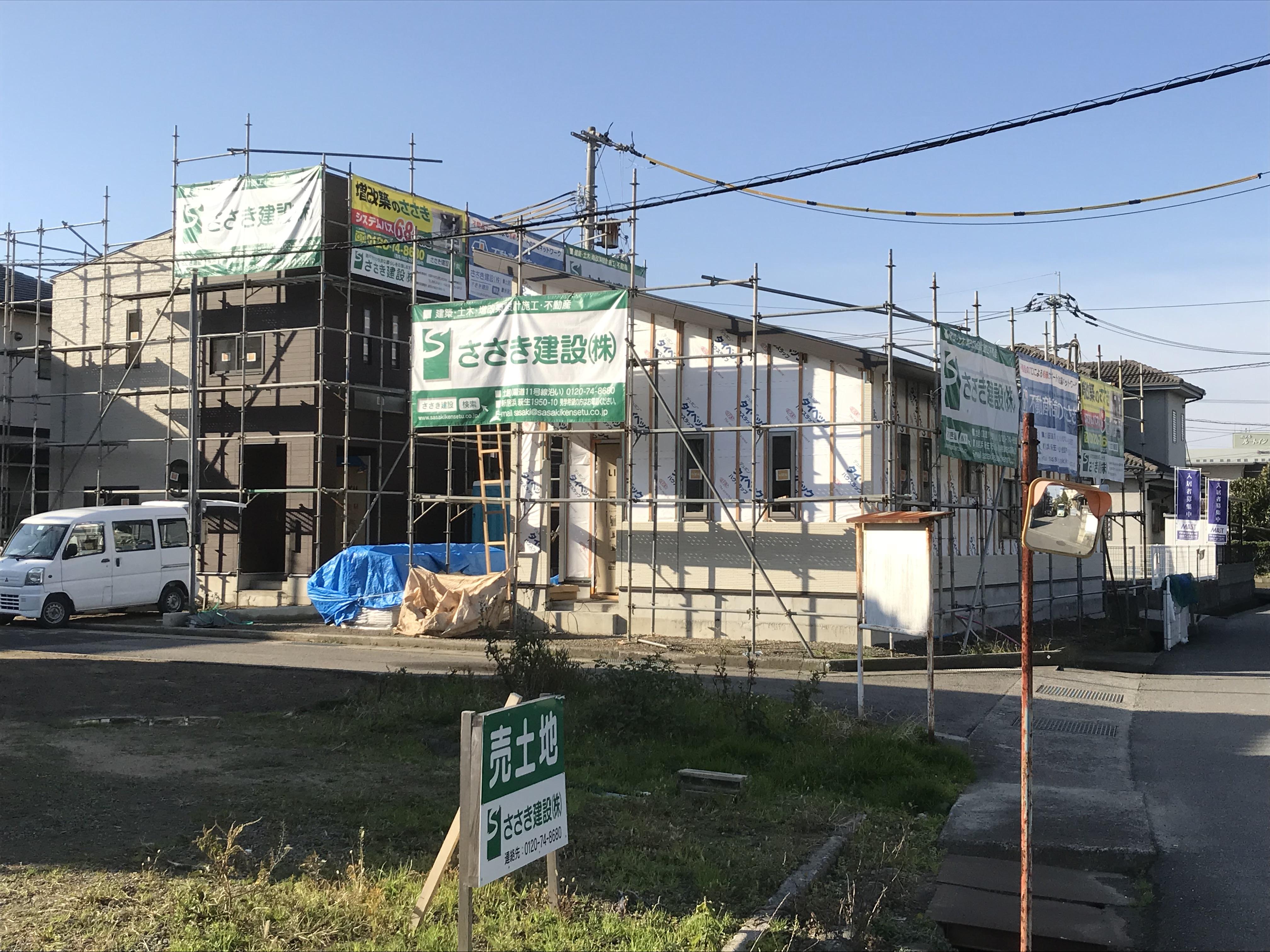 西条市で家新築費用の現場写真