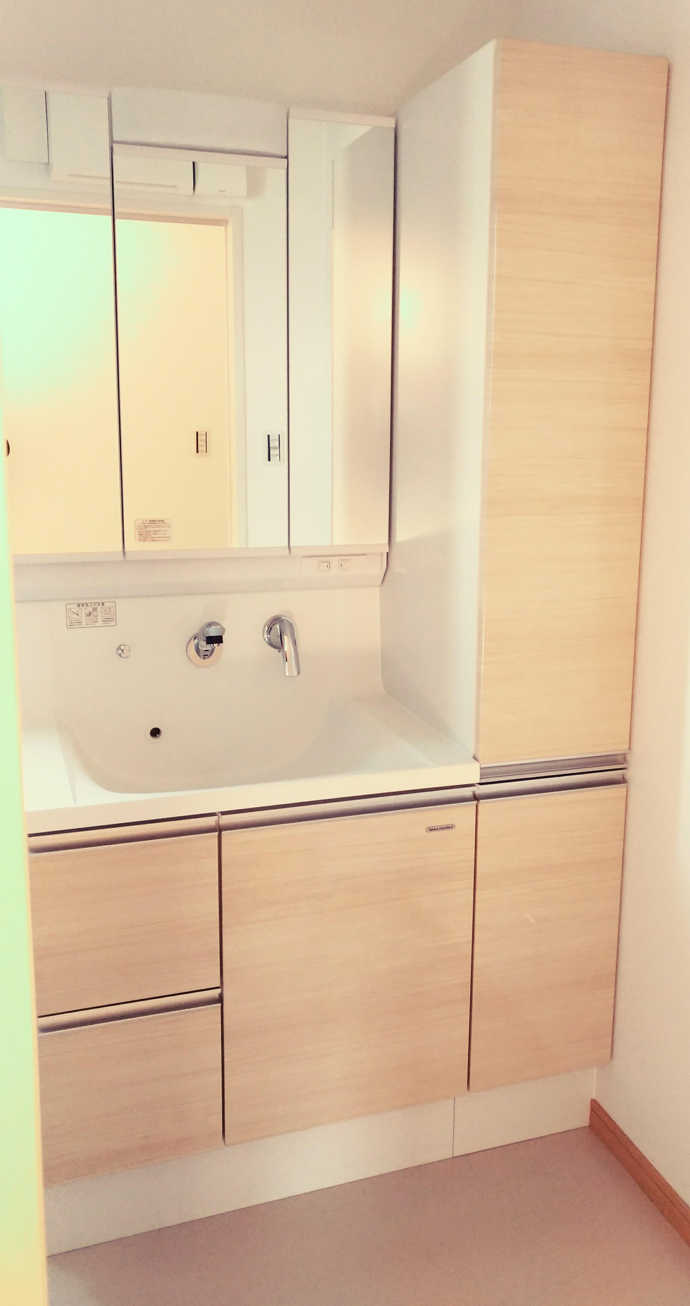 西条市で家の価格の洗面台写真