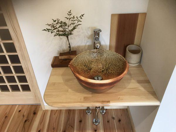 新居浜市で家を買った洗面の写真