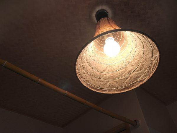 西条市でセルロースファイバーの家の照明写真