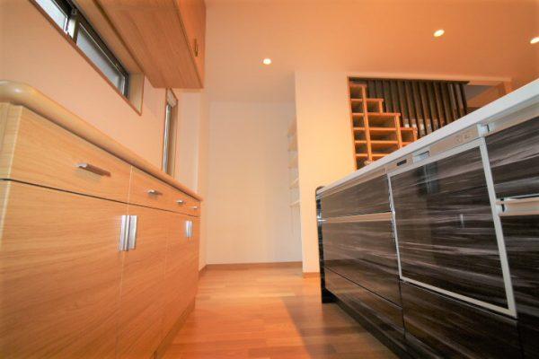 新居浜市で平屋のお家のキッチン写真