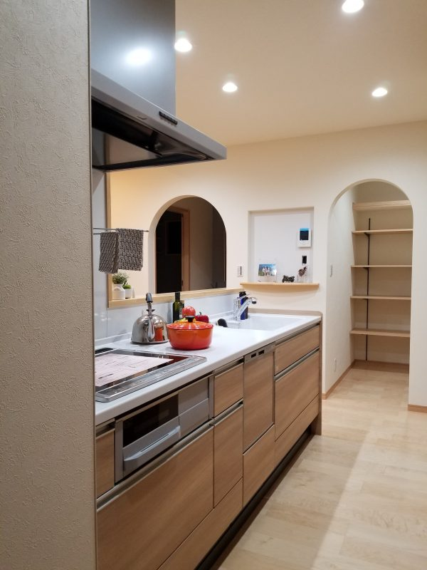 西条市で家づくり完成キッチン写真