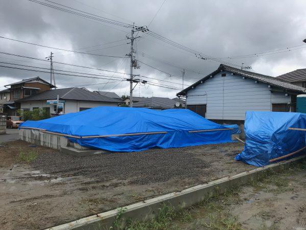 四国中央市で住宅の現場写真