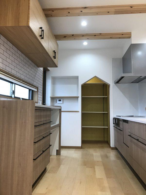 新居浜市で工務店が建てたキッチン写真