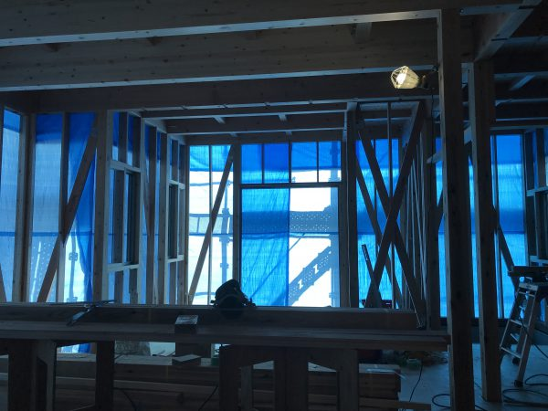 新居浜市でマイホームが建つ現場の写真