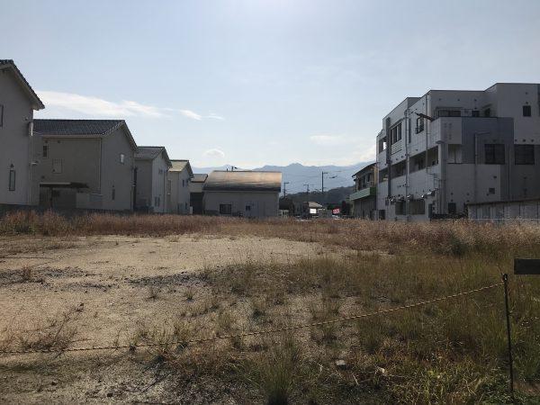 新居浜市でマイホームが建つ土地の写真