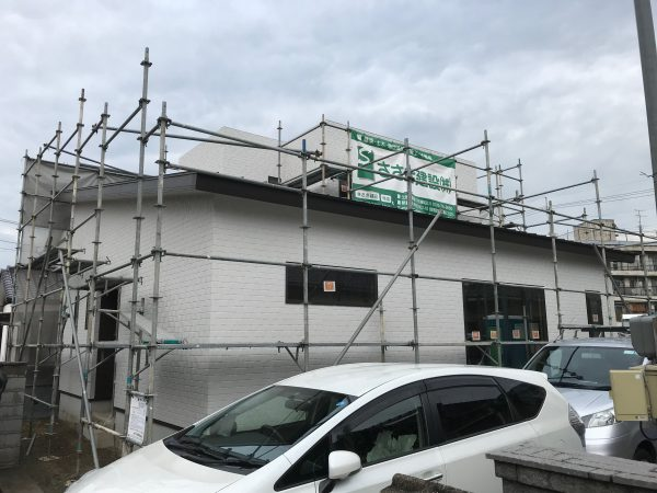 新居浜市で新築住宅の現場の写真