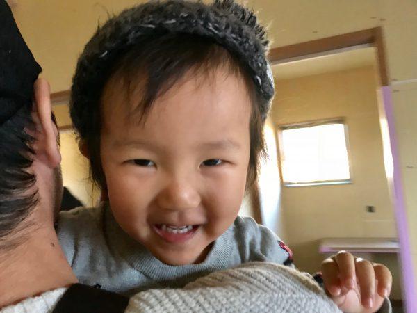 四国中央市で家を建てるお客様の子供写真