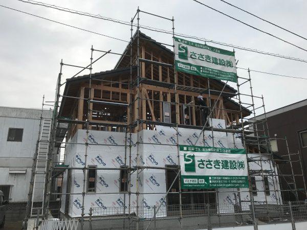 新居浜市で一軒家建設中の写真