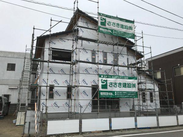 新居浜市で一軒家を建設中の写真