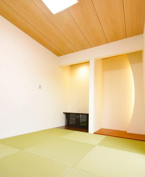 新居浜市で新築住宅の和室の写真