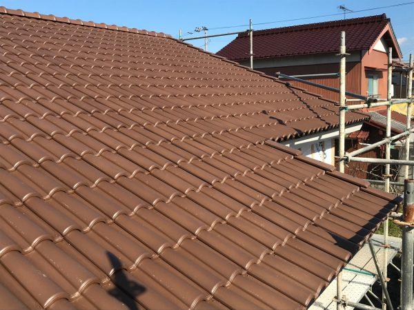 四国中央市でグラスウールを使用している屋根写真