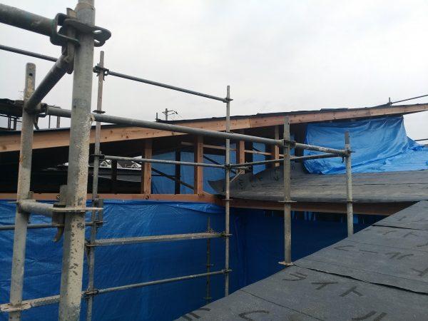 新居浜市で高気密・高断熱住宅の屋根写真