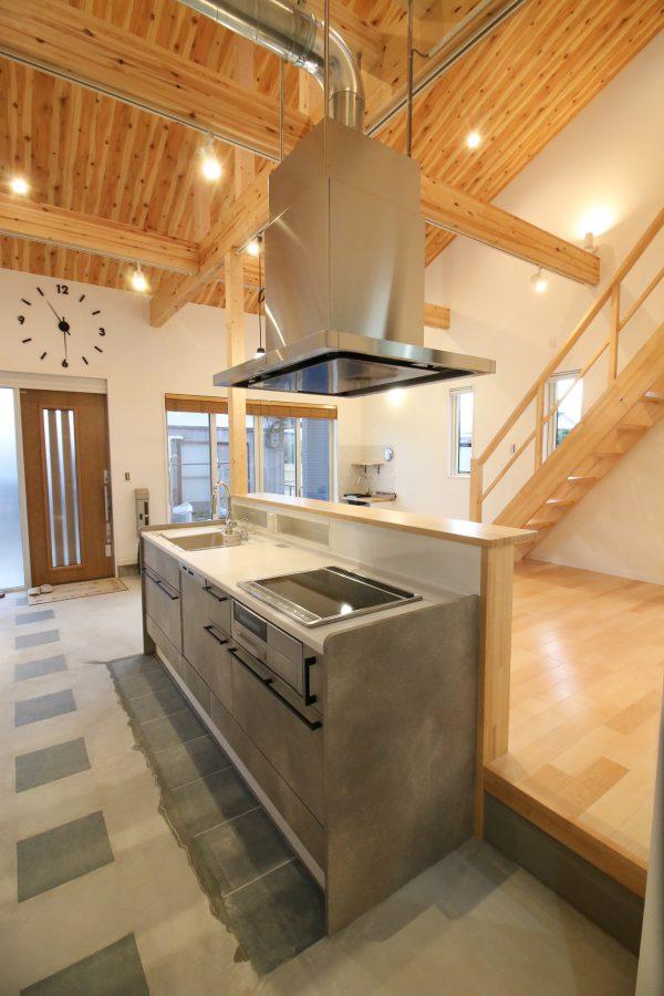 新居浜市で平屋のキッチン写真